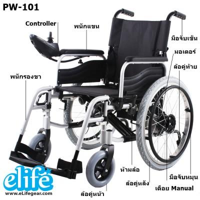 ส่วนประกอบ รถเข็นไฟฟ้า PW-101