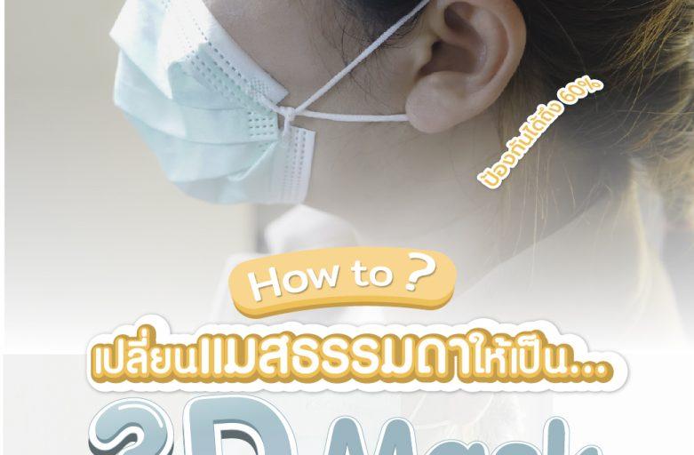 เปลี่ยนแมสธรรมดา…ให้เป็น3D Mask