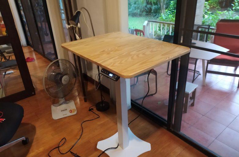 Ergodesk  คุณยงยุทธ Raise1 โต๊ะทำงานปรับระดับได้ขาเดียว