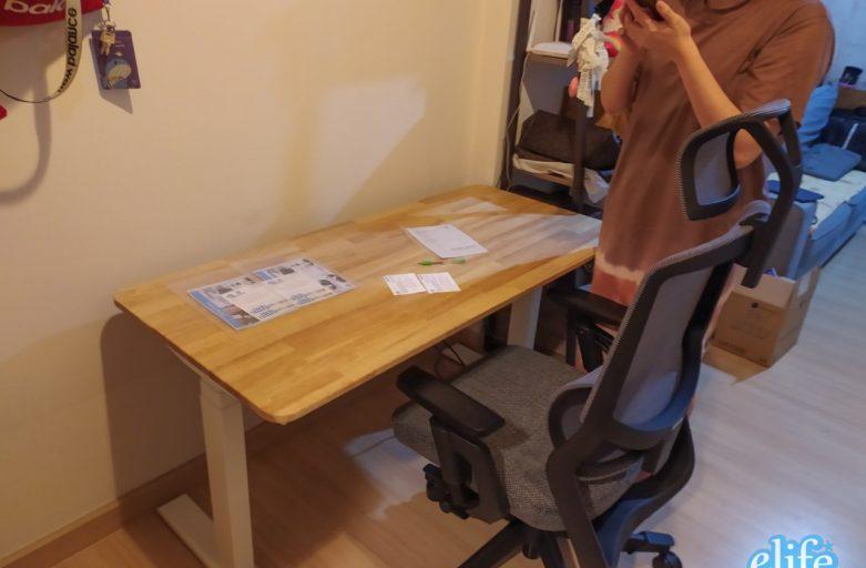 Ergolife คุณสินีนุช Set A Raise3+Ultra5 โต๊ะปรับระดับไฟฟ้าเก้าอี้เพื่อสุขภาพ