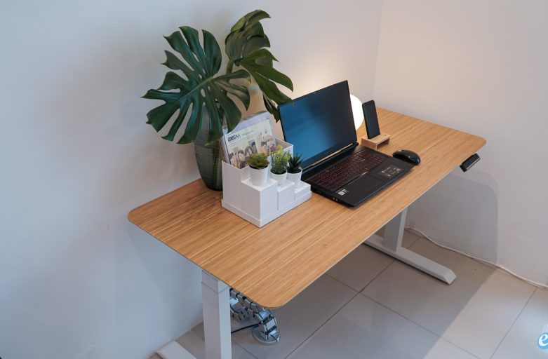 Real Bamboo หน้าโต๊ะไม้ไผ่เต็มแผ่น / โต๊ะสุขภาพปรับไฟฟ้า ไม้จริงสั่งตัดได้