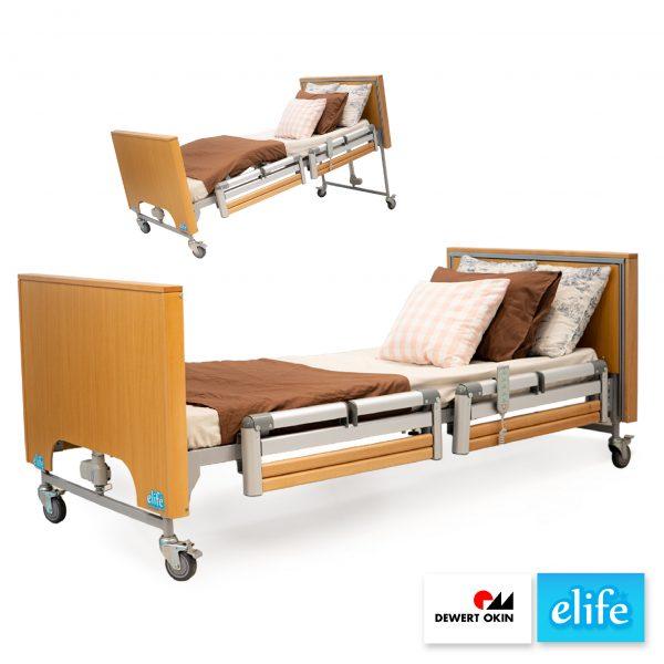 EB-55 เตียงไฟฟ้า ปรับระดับได้ 5ไกร์ โครงโลหะกรุวัสดุไม้